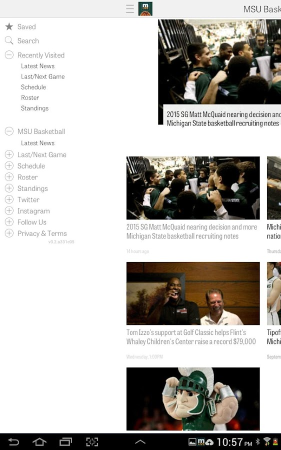 MLive.com: MSU Basketball News - screenshot