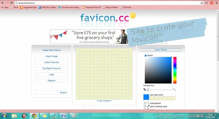 creating a favicon