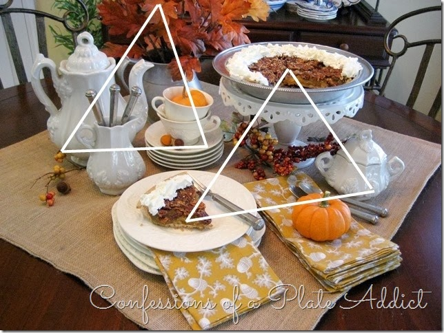 CONFESSIONS OF A PLATE ADDICT Creating a Fall Dessert Table with Triangles
