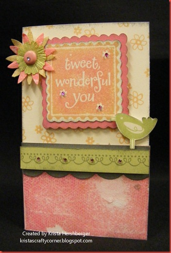 June SOTM- Tweet Wonderful You card