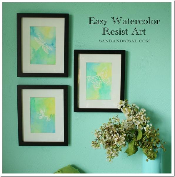 Easy Watercolor Resist Art