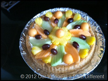 completed fruit torte
