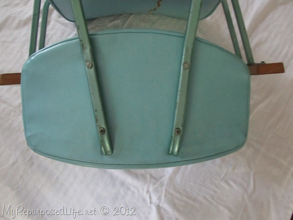 vintage metal rocking chair (5)