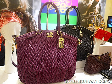 Coach Madison Quilted Chevron Lindsey  70th Anniversary