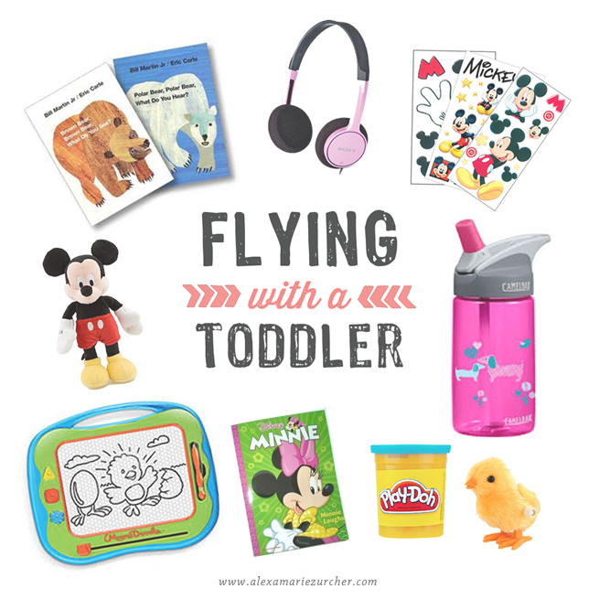 Flying with a Toddler packing list