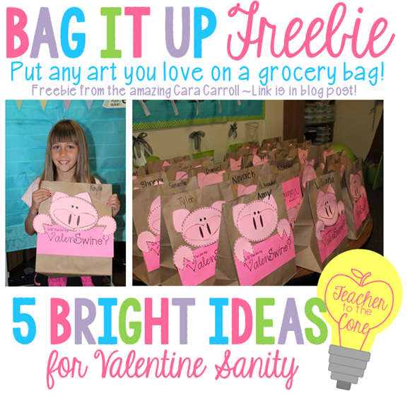 Valentine bags from Katie Knight at Teacher to the Core