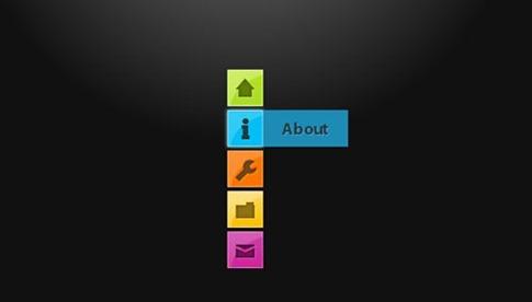 Menú de navegación minimalista CSS3
