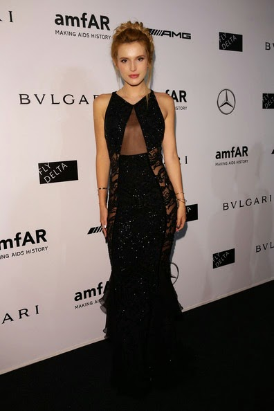 Bella Thorne attends the amfAR Milano 2014
