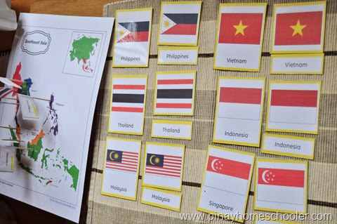 Southeast Asia Map and Flags