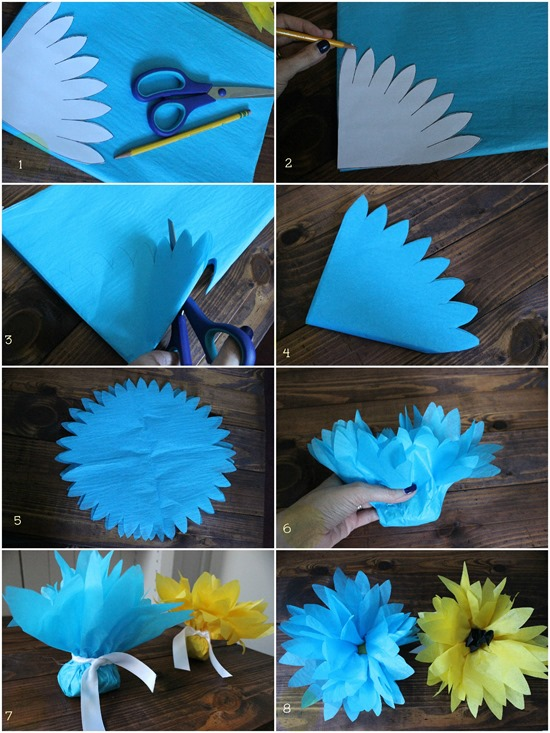 D I Y Louisville Make It Tissue Paper Flower Favors Tutorial