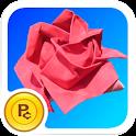 Origami Rose: Super Plant logo