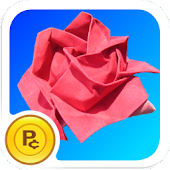 Origami Rose: grow + gamble