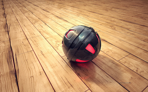 3D Sphere  Black & Red Wide