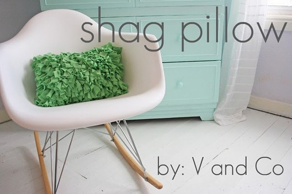 shag pillow tutorial