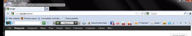 Firefox toolbars