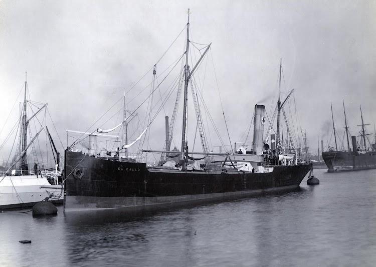Vapor petrolero EL GALLO en Londres. Ca. 1892. Foto Tyne&Wear Museum. Prohibida su reproducción..jpg