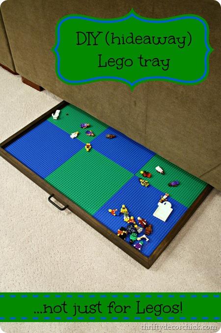 hideaway Lego tray for floor