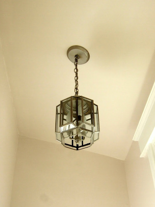 Vintage ceiling light, updated