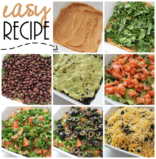 easy recipe 8 layer spread