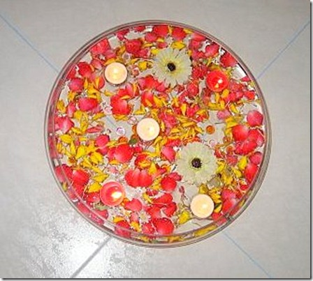 Diwali potpourri floating lamps and flowers ideas suggestion