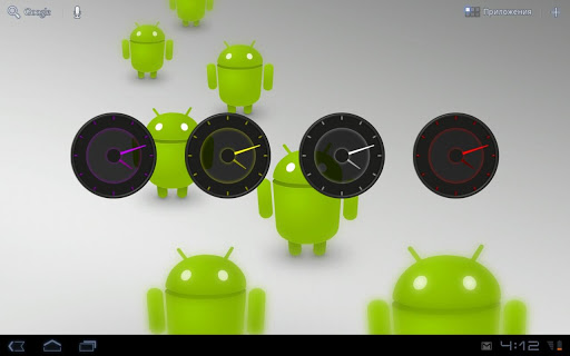 Dark glass Clock Widgets