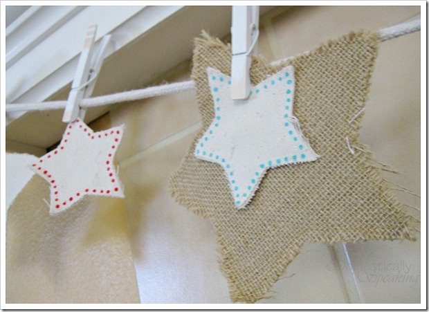 Burlap and Canvas Patriotic Stars