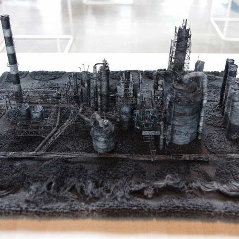 Miniature Industrial Landscapes Created From Cloth Fibers