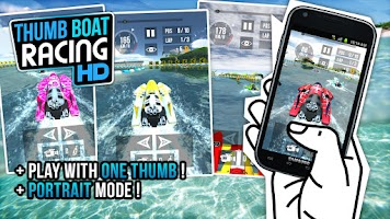 Screenshot of Thumb Boat Racing