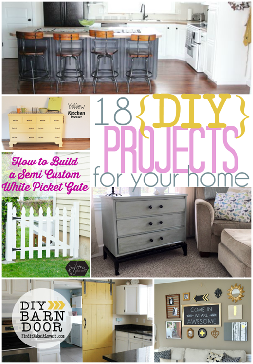18 DIY Projects for Your Home #DIY #gingersnapcrafts #linkparty #features