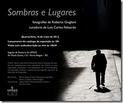 Convite da exposição Sombras e Lugares