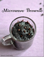 Microwave eggless brownie in a mug