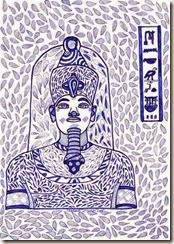275 Zentangle Pharao