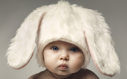 Cute Bunny Baby Kid