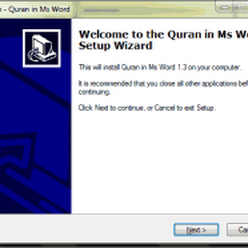Download Quran in Word 2003 2007 2010 2013