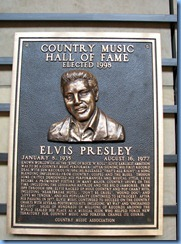 9629 Nashville, Tennessee - Discover Nashville Tour - downtown Nashville - Country Music Hall of Fame and Museum - The Hall of Fame Rotunda - Elvis Presley plaque
