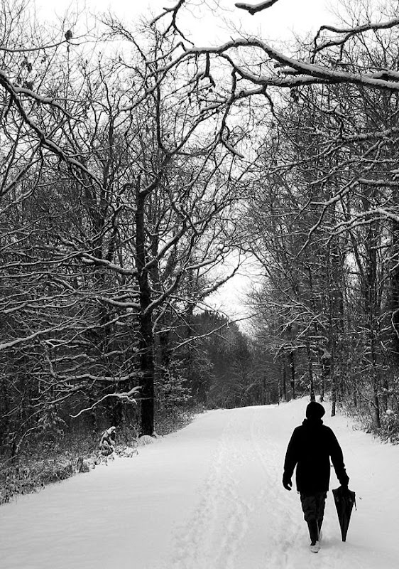 Me walking in the snow 2