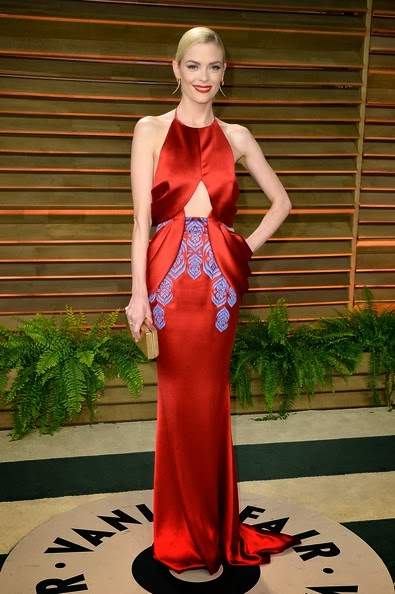 Jaime King attends the 2014 Vanity Fair Oscar Party