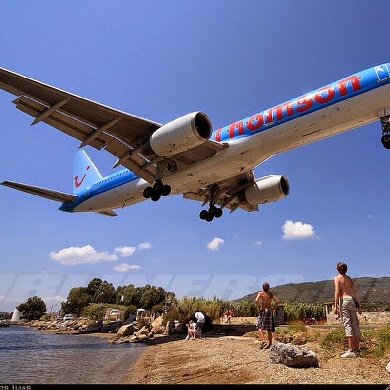 "Skiathos Airport, The ""Saint Martin"" of Greece"