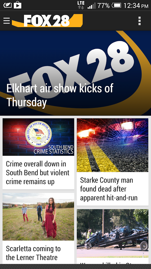 FOX28 WSJV News- screenshot