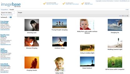 Página inicial do banco de imagens Imagebase.DavidNiblack.com
