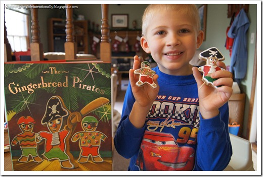 Gingerbread Pirates is our favorite Christmas book for Kids