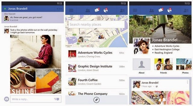 Facebook para Windows Phone