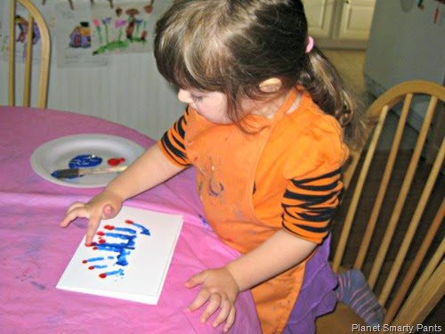 Handprint Menorah Craft