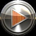 pele de metal poweramp madeira icon