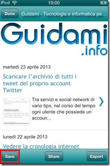 Webpage Capture salvare screenshot