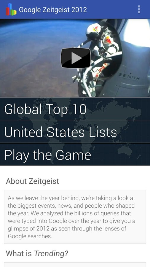 Google Zeitgeist 2012 - screenshot