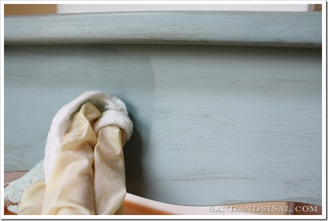 Painting with chalk paint ASCP wax