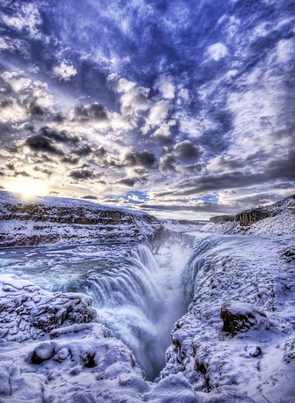 Gulfloss waterfall Iceland