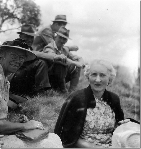 Mrs Knight (Anne Milne's mum) with Pearl Drummond, 1944