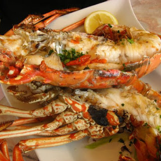 Simple Grilled Whole Lobster.